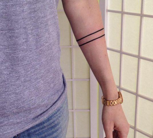 Bande laterali sul braccio