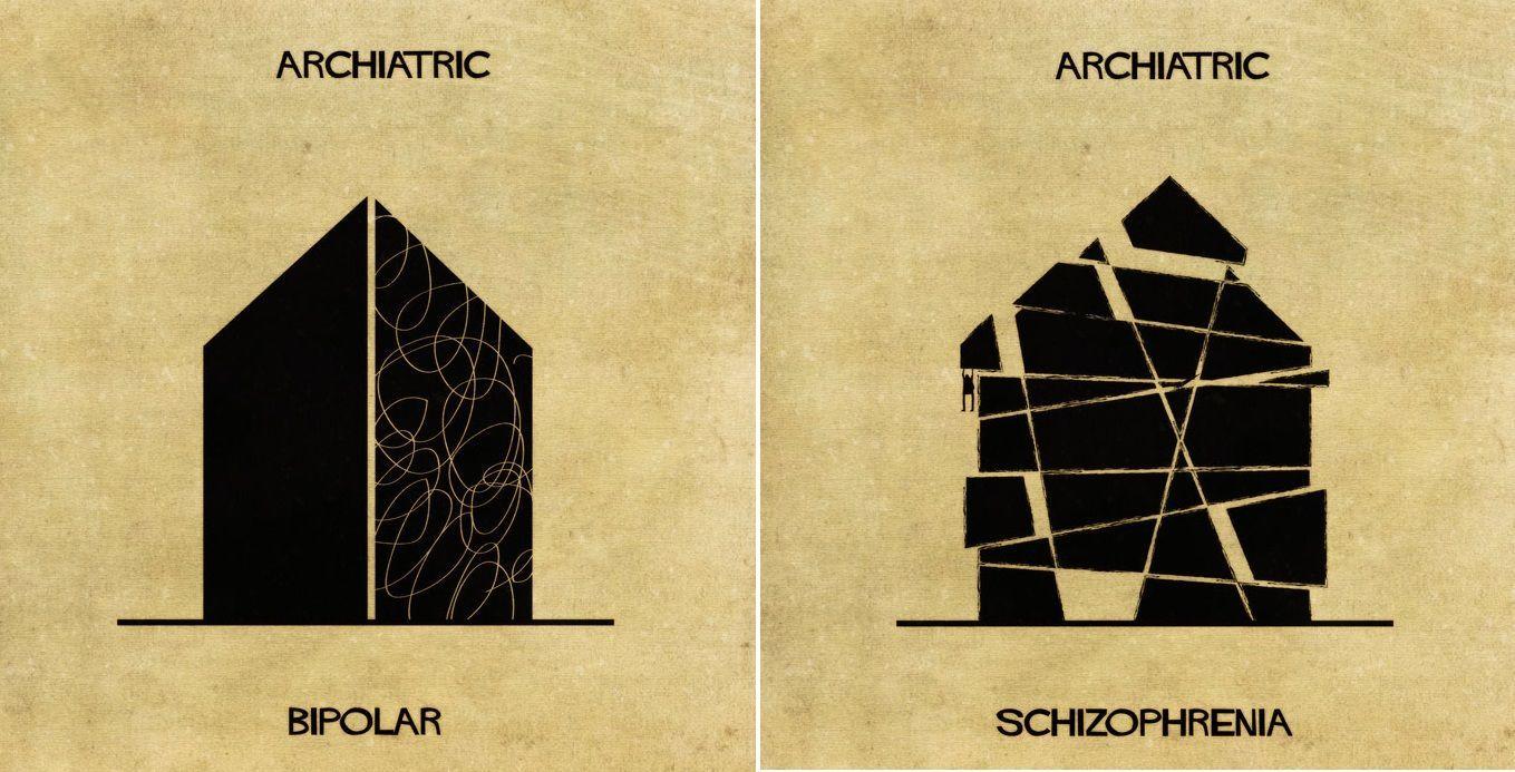 L'architettura per spiegare 16 malattie mentali