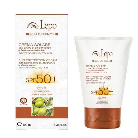 CREMA SOLARE SPF 50+ con oli bio di oliva e cocco ed estratto di aloe bio 19,00 €