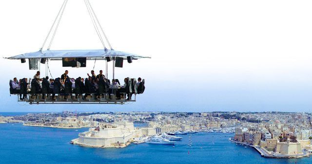 Dinner in the Sky a Malta