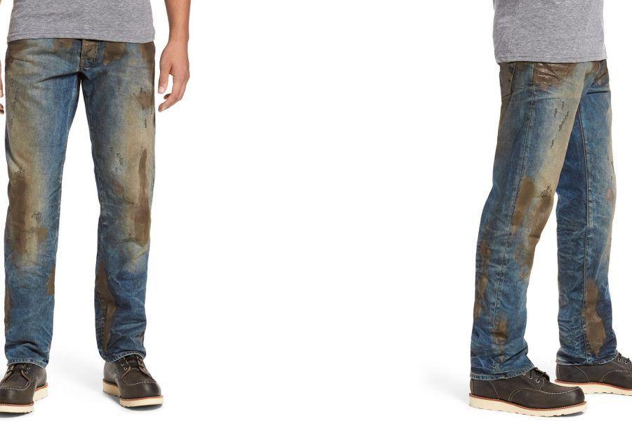 Comprereste mai dei jeans venduti già sporchi di fango?