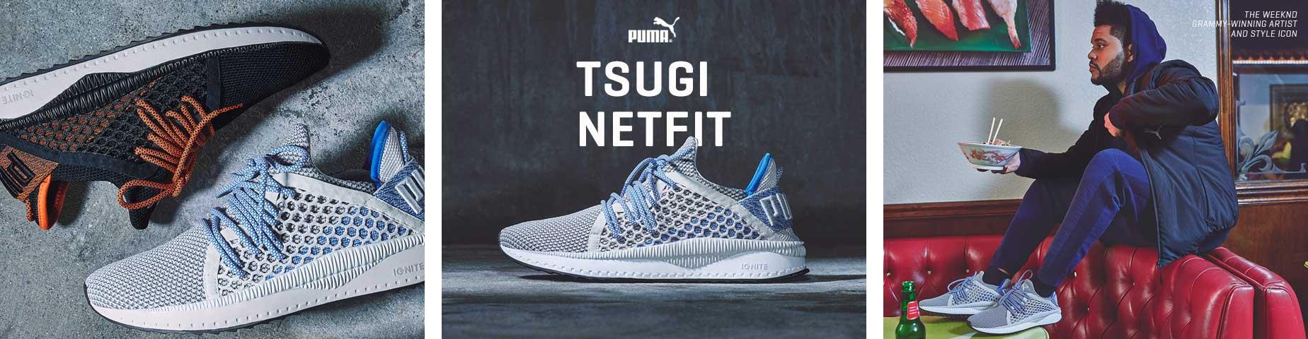 PUMA lancia le nuove Tsugi Netfit con un contest tutto