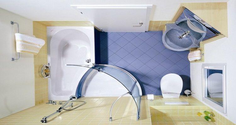 11 trucchi brillanti per arredare i bagni piccoli bigodino for Piccoli bagni cabina