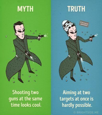 Sparare con due pistole e colpire due bersagli è impossibile