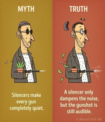 Non è vero che il silenziatore rende le pistole totalmente silenziose