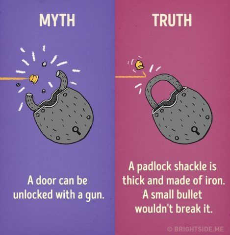 Una pistola non può aprire una porta chiusa