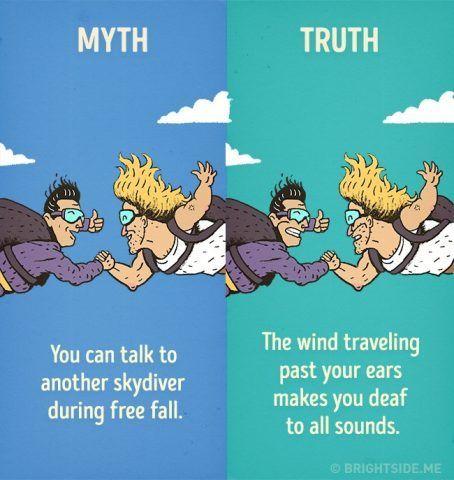 E' impossibile parlare con qualcuno mentre vi state gettando con il paracadute