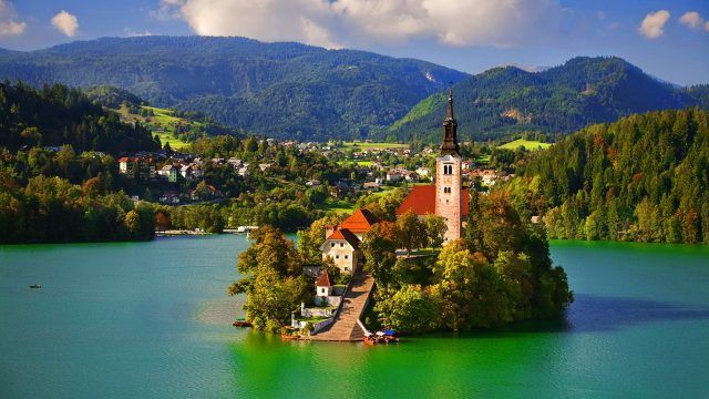 Assumption of Mary Pilgrimage Church, Lake Bled, Slovenia