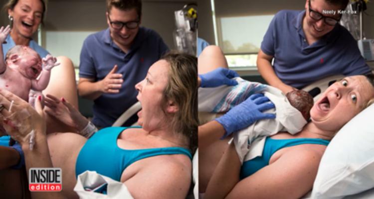 Non era il suo primo parto ma quando ha visto il suo bambino, lei non se lo aspettava