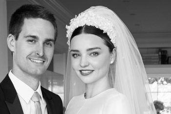 L'abito da sposa di Miranda Kerr è semplicemente un sogno