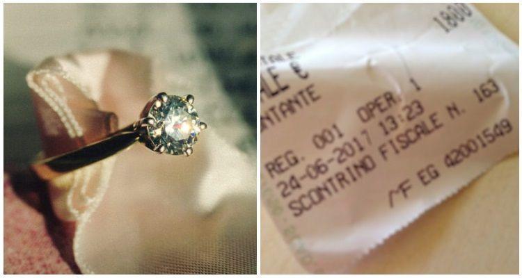 Pensa che l'anello di fidanzamento sia troppo piccolo