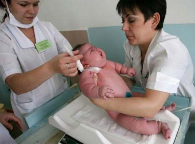 neonato più grande del mondo