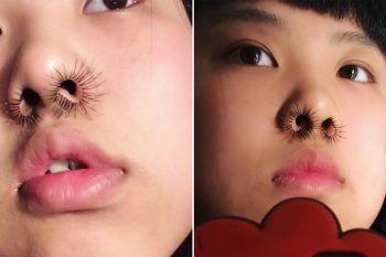 Nose hair extension: la mania delle ciglia nel naso