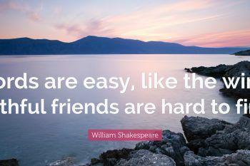 Le frasi corte più belle di William Shakespeare