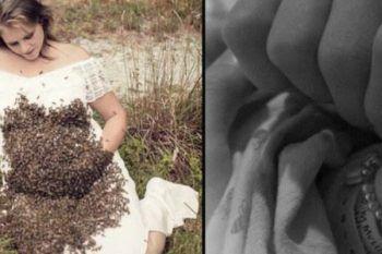 La foto che sta facendo impazzire il mondo: ventimila api sul pancione