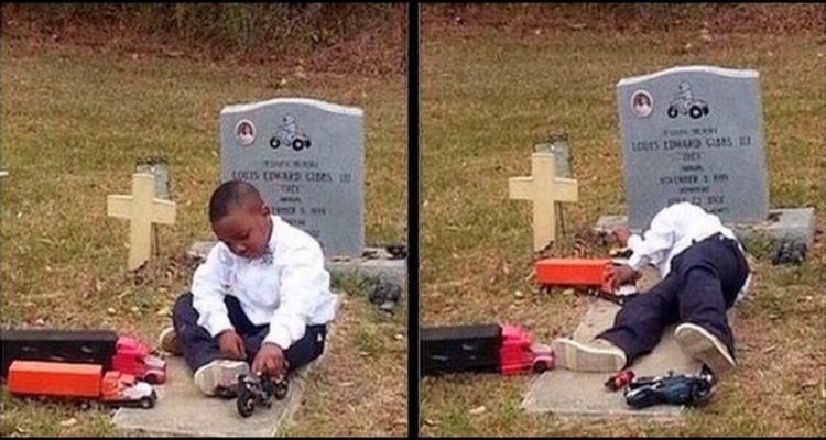 Il bambino va a giocare tutti i pomeriggi al cimitero. L'insolito motivo è davvero toccante!