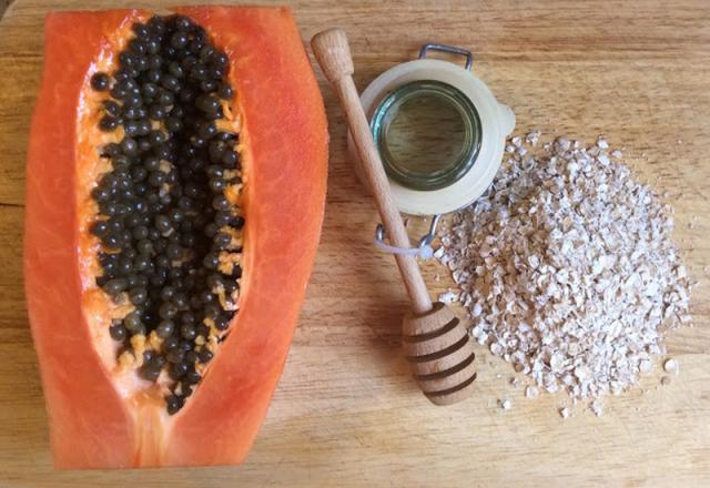 frullati per perdere peso con farina davena e papaya