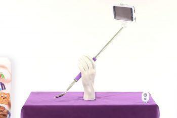 Ecco il bastone da selfie con cucchiaio incorporato