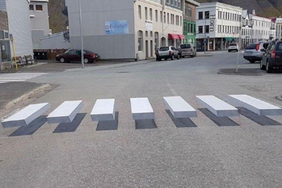 Le strisce pedonali 3D che hanno conquistato il web