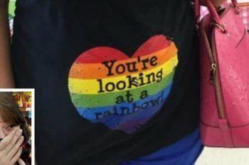 """Il significato del """"cuore arcobaleno"""" sulla maglia di una donna incinta"""