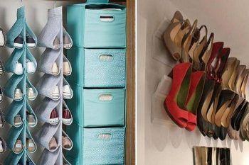 18 modi per tenere in ordine le scarpe