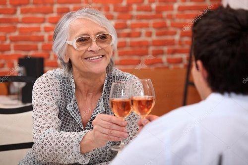 Devi Drinking Wine