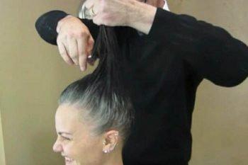 Donna di 41 anni da un taglio netto ai suoi capelli
