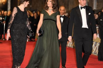Bafta 2018: red carpet in nero, outfit strepitoso per Kate Middleton