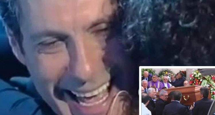 La presenza che più ha emozionato al funerale di Fabrizio Frizzi, è stata proprio la sua...