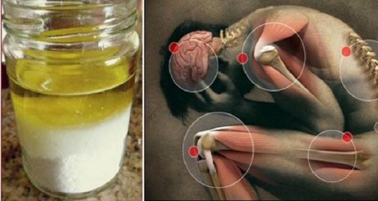 L'olio di oliva e il sale curano ogni dolore