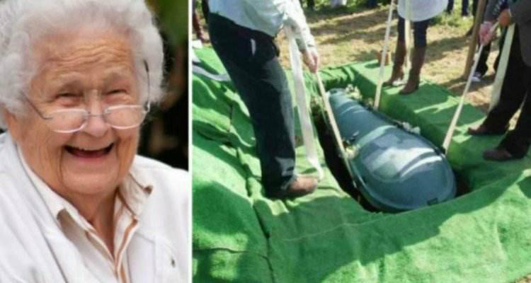 Sul punto di morte vuole essere seppellito con tutta la sua fortuna. Così la moglie...