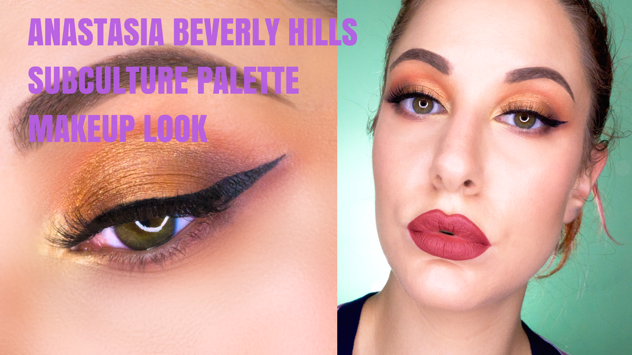 Anastasia Beverly Hills Subculture Palette makeup look