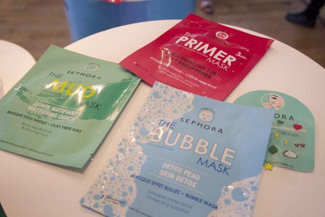 Sephora - Nuove maschere in tessuto, tra cui la famosa maschera ossigenante con le bolle e la maschera primer, che si applica e una volta rimossa ha già fatto da crema idratante e primer per il trucco