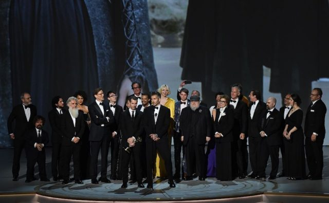 Il cast di Game of Thrones. (Robyn Beck / AFP)