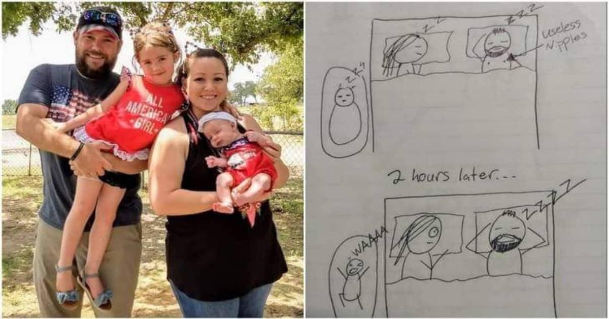 i-disegni-di-Mattea-per-far-capire-al-marito-perché-è-sempre-stanca