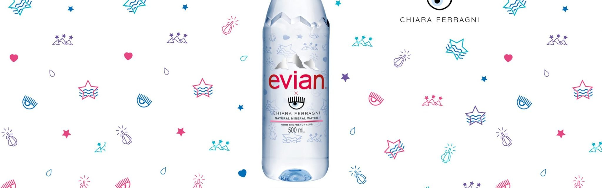 Il prezzo dell'acqua Evian di Chiara Ferragni vi farà passare la sete