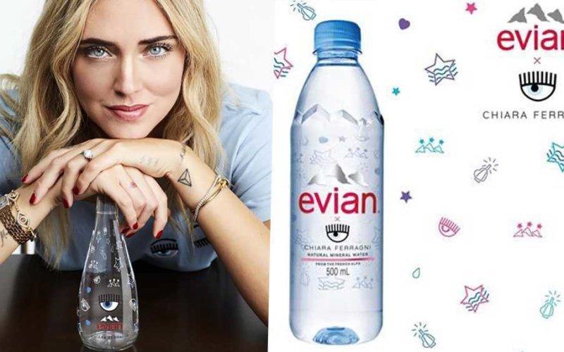 prezzo dell'acqua Evian di Chiara Ferragni