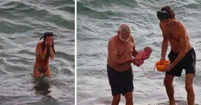 donna-partorisce-il-suo-bambino-nel-mar-rosso