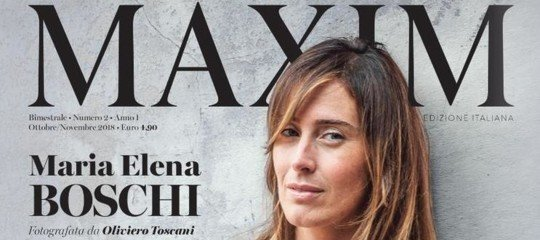 Maria Elena Boschi per Maxim