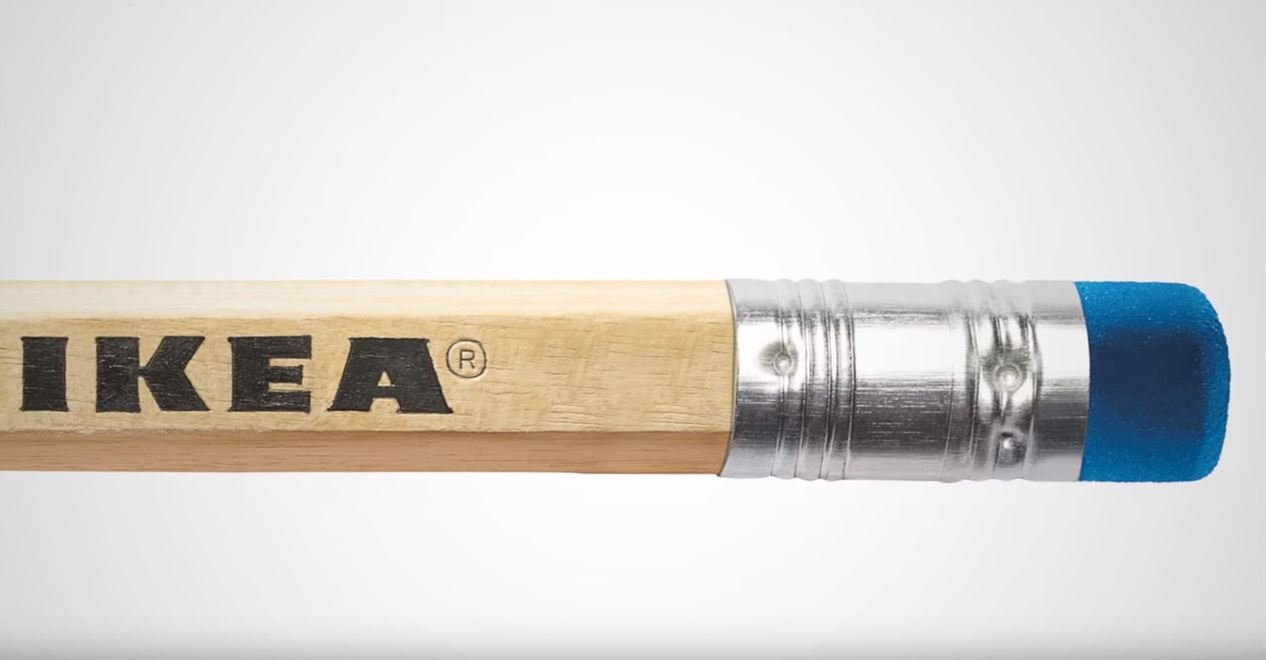 matite Ikea con gomma