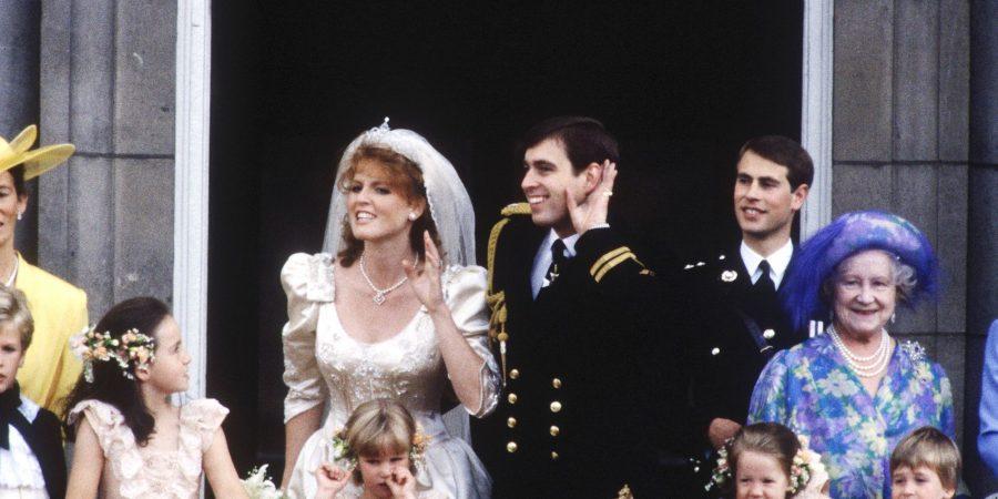 Sarah Ferguson e il principe Andrea matrimonio