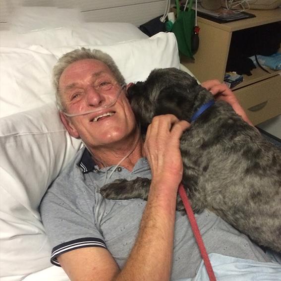 """""""È il mio angelo custode"""", uomo si sveglia dal coma grazie al suo cane"""