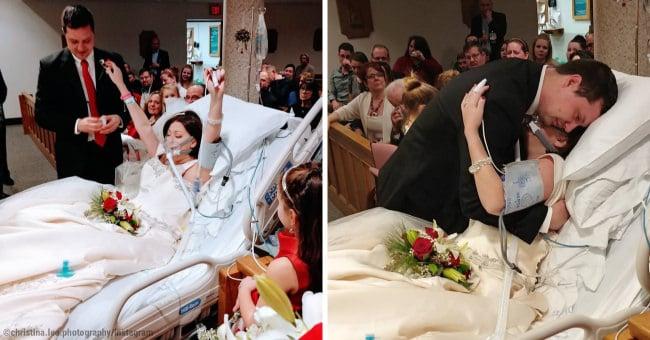 Si sposa poco prima di perdere la vita a causa di un cancro