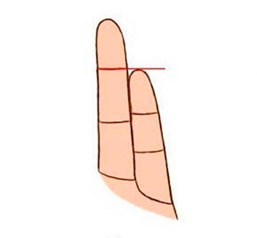 dimensione del suo dito mignolo