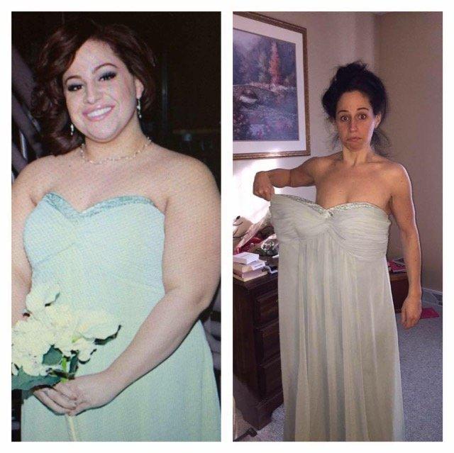 Coppia perde in totale 260 chili prima del matrimonio