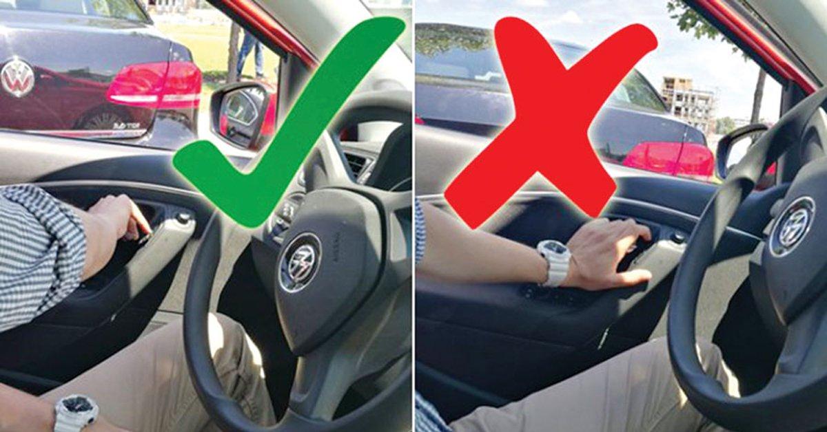 Ecco perché è meglio aprire lo sportello dell'auto con la mano sinistra