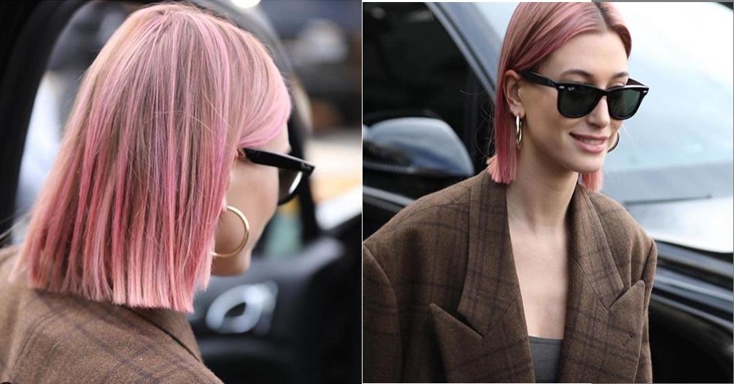 capelli rosa Hailey Bieber