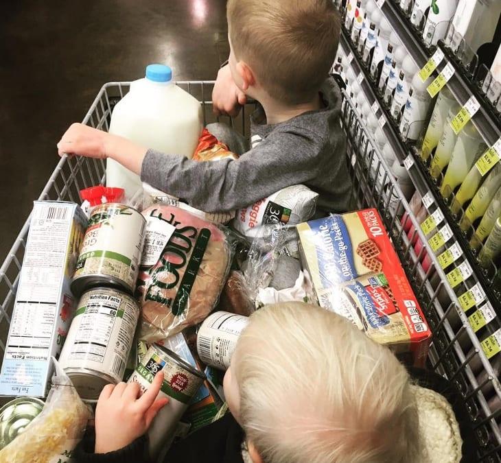 mamma al supermercato