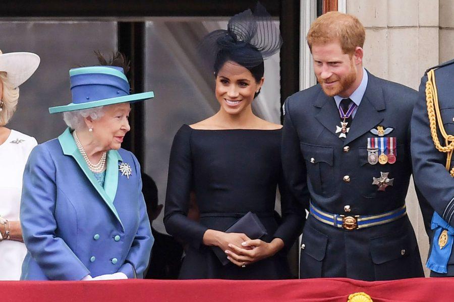 Regina Elisabetta II Meghan e Harry
