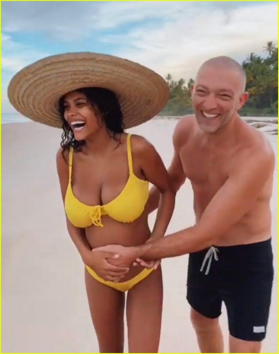 Tina Kunakey incinta